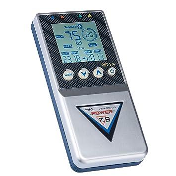 Tesmed Max 7.8 POWER electroestimulador muscular - 4 canales, 125 tipos de tratamientos: abdominales, aumento muscular, estética, masajes tens: Amazon.es: ...