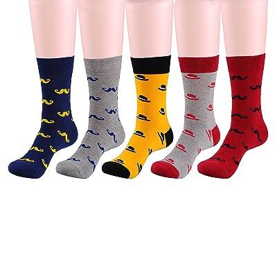 Deer Mum Men Fashion Colorful Grid Funky Soft Cotton Socks