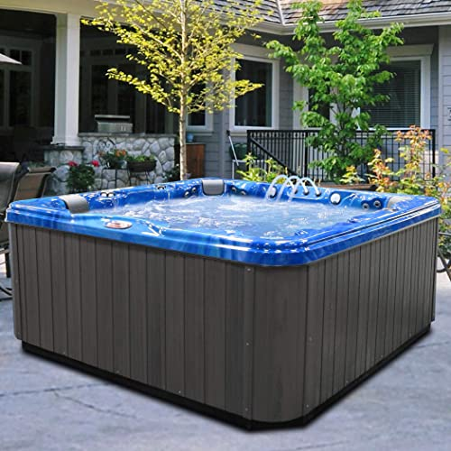 American Spas AM-756LP 6-Person Hot Tub, Summer Sapphire