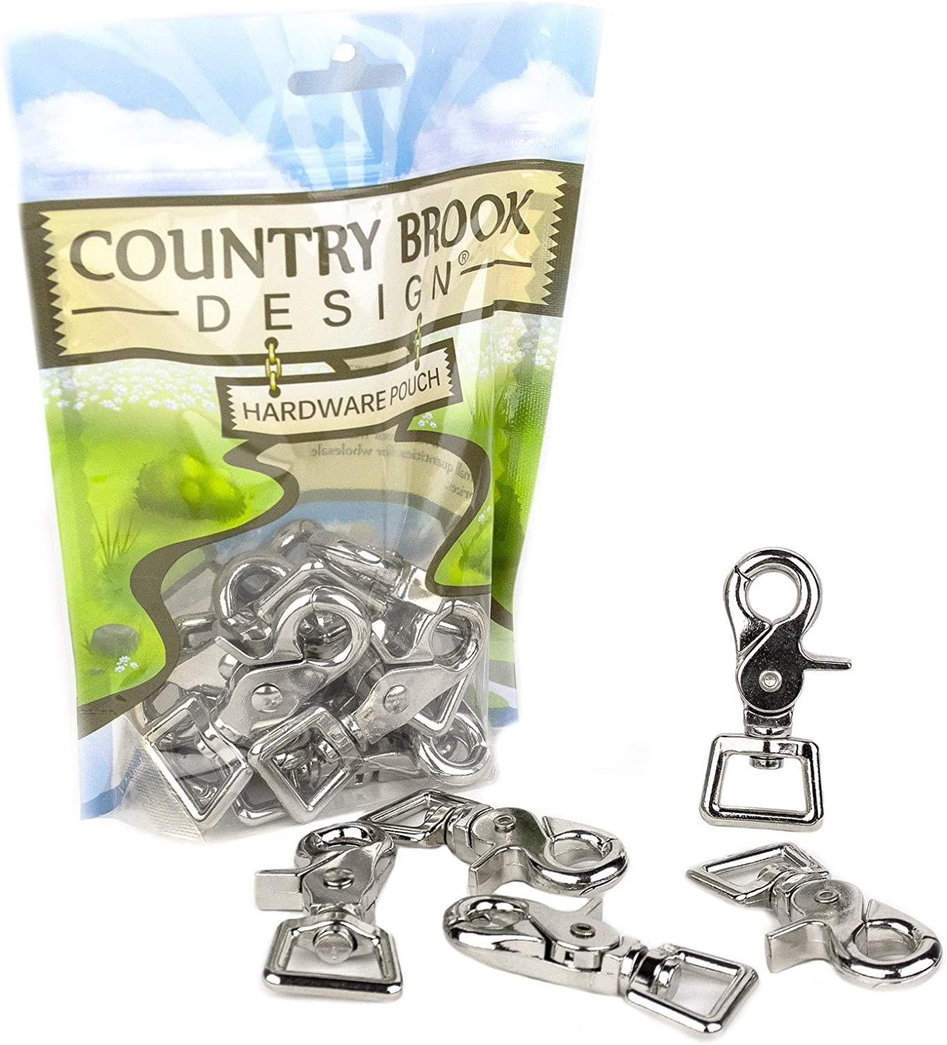 25 Country Brook Design 3//4 Inch Trigger Swivel Snap Hooks