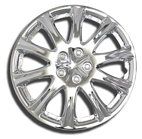 tuningpros wsc-503 C15 cromo Tapacubos rueda Skin Cover 15-inches plata conjunto de