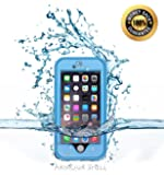 Armour Shell Waterproof Scratch Resistant Protective Case for iPhone 6 Plus - Light Blue