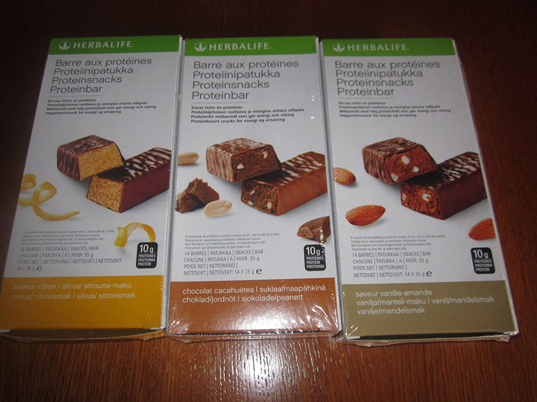 Pack Encas Gourmand (té frambuesa 50 g, aloe vera mango 473 ml, barra de proteínas vainilla almendras 1 caja de 14 barras de 35 g)