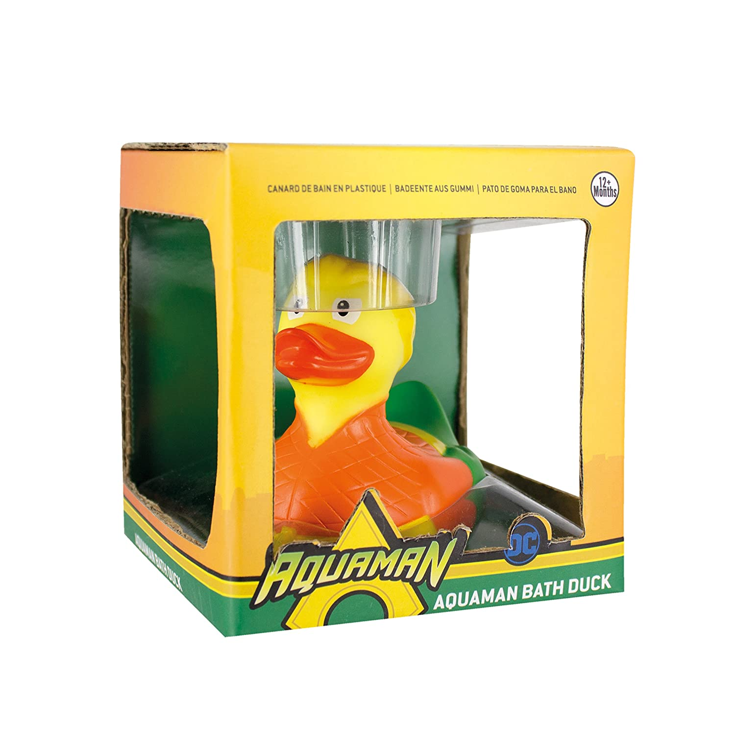 Officially Licensed DC Comics Product Paladone PP4054DC Novelty Bath Toy Duck Aquaman Bath Duck