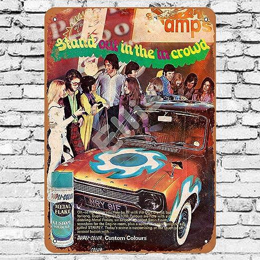 Ellis 1972 Dupli-Color - Cartel de Metal Retro para ...