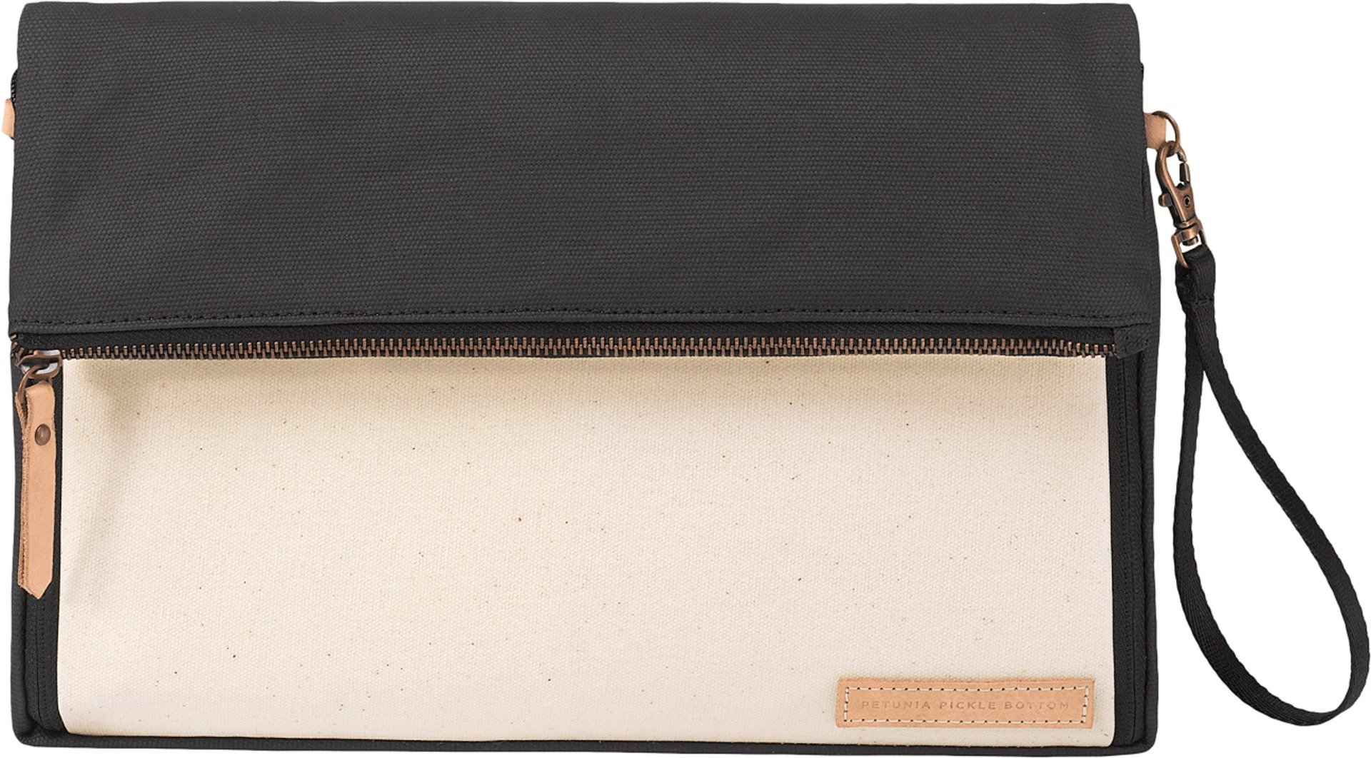 petunia pickle bottom Women's Glazed Color Block Crossover Clutch Birch/Black Clutch
