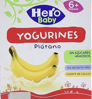 Hero Baby Yogurines Plátano - Paquete de 4 x 100 gr - Total: 400 gr