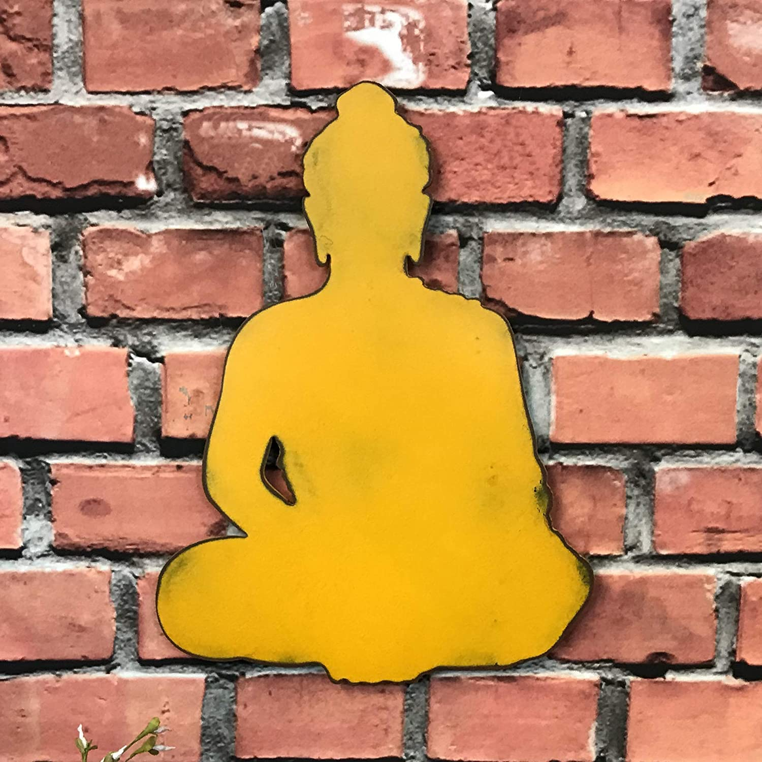 Metal Wall Art Home Decor 12 17 or 23 tall Yoga and Buddhist Symbols Choose your Patina Color and Choose from a Variety of Zen Japanese Buddha Choose 8