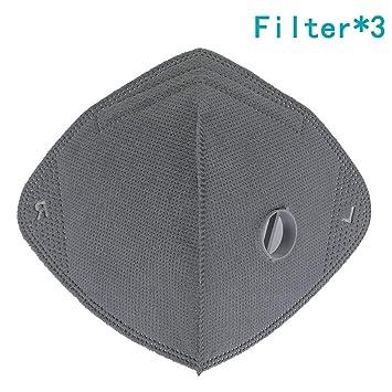 Yobenki - Máscara antipolvo para exteriores (carbón activado, transpirable, anticontaminación, filtración,