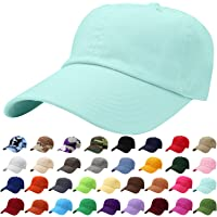7ac00516 Falari Classic Baseball Cap Dad Hat 100% Cotton Soft Adjustable Size