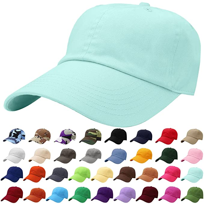 6cea9f41633 Falari Baseball Cap Hat 100% Cotton Adjustable Size Aqua Blue 1821 ...