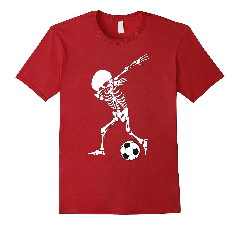Dabbing Skeleton Soccer Shirt – Funny Halloween Dab T-Shirt-T-Shirt ... b7509fe13