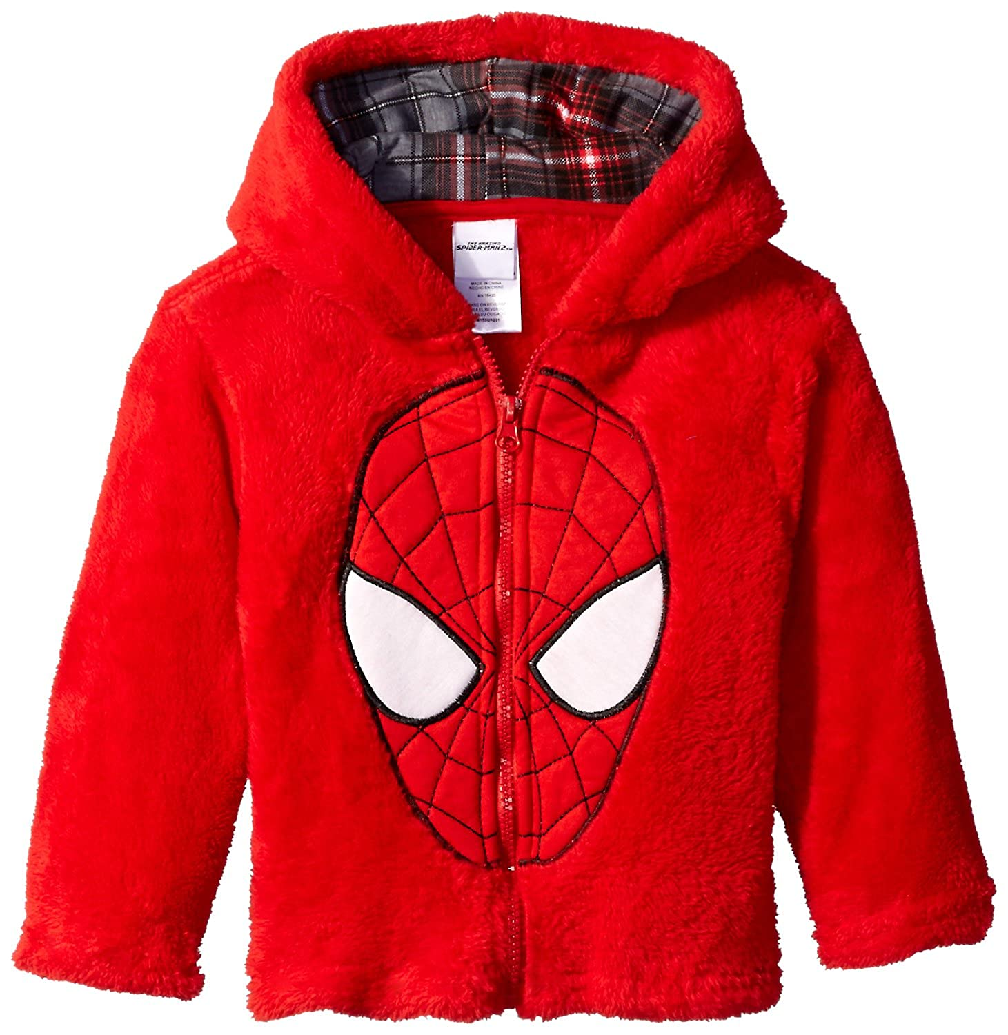 Marvel Boys' Zip Up Spiderman Hoodie