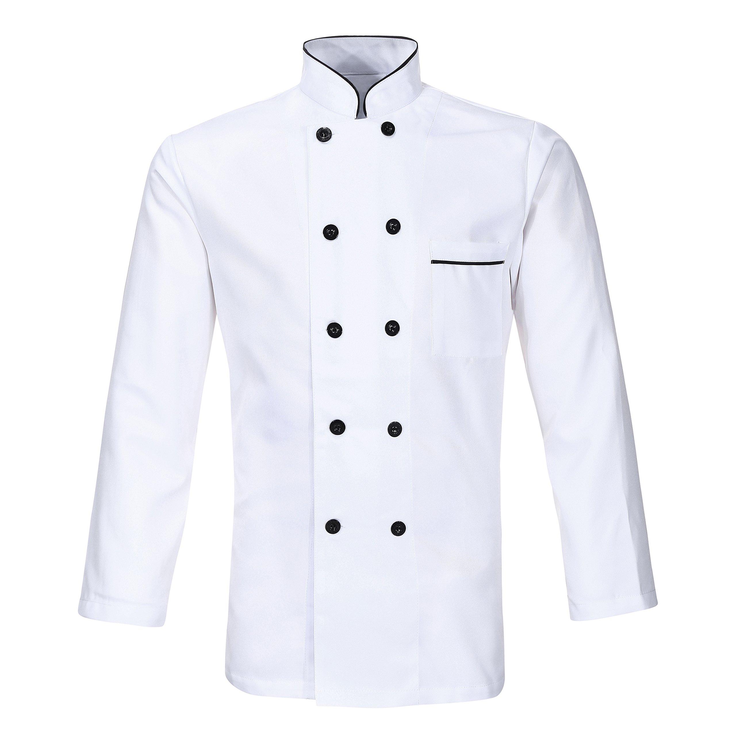 Nanxson(TM Hotel/Kitchen Uniform Long Sleeved Working Chef Vest CFM0001 (XXL, White)
