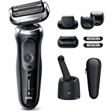 Braun Electric Razor for Men, Series 7 7085cc 360 Flex Head Electric Shaver with Beard Trimmer, Rechargeable, Wet & Dry, 4in1
