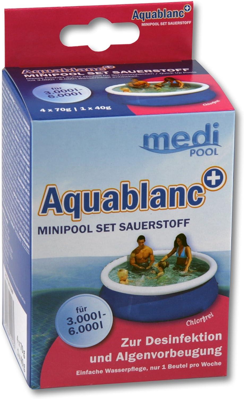 2 x Aquablanc Mini Pool Set Sauerstoff 320g von mediPOOL