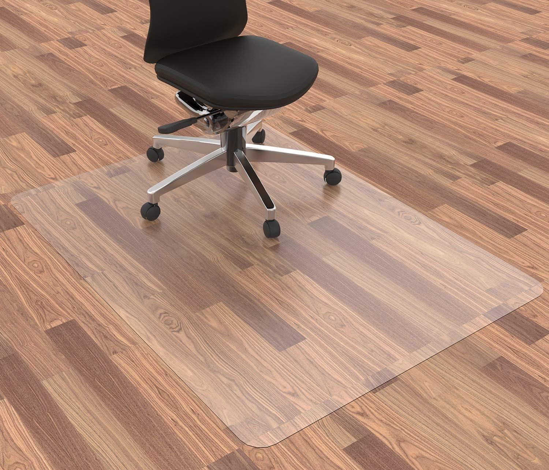 Homek Office Chair Mat for Hardwood Floor, 48 x 36 Inches Desk Chair Mat for Hard Floor, Easy Glide for Chairs