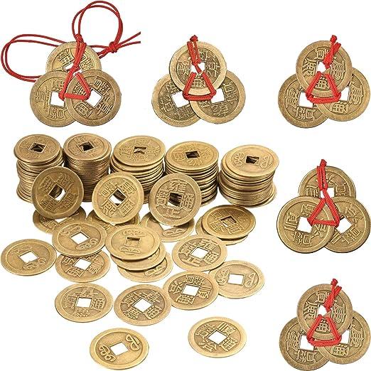 Boao 50 Stück 1 Zoll Chinese Feng Shui Münzen I Ching Münzen Und 5