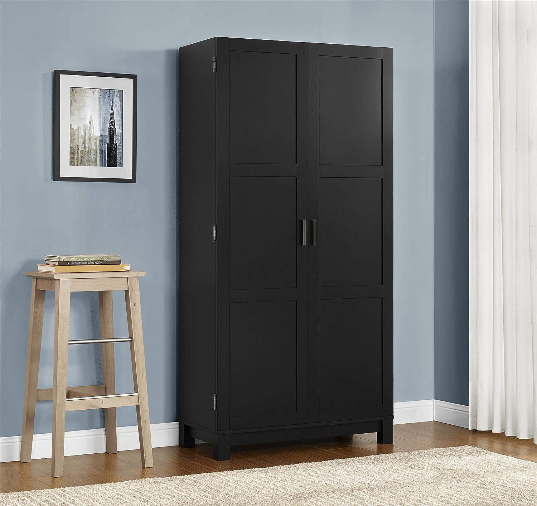 Ameriwood Home Carver 64 Storage Cabinet, Black