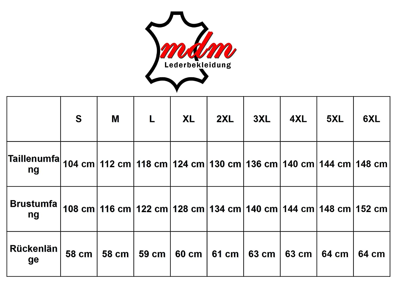 MDM Motorrad Schnallen Lederweste S