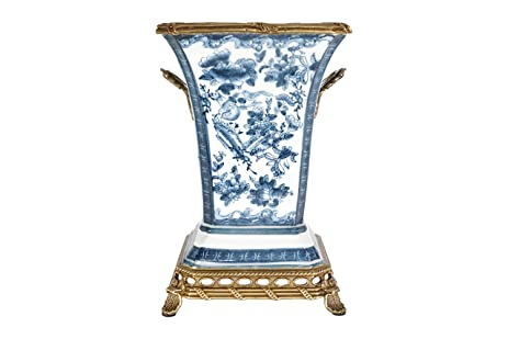 Amazon Beautiful Blue And White Floral Porcelain Square Vase