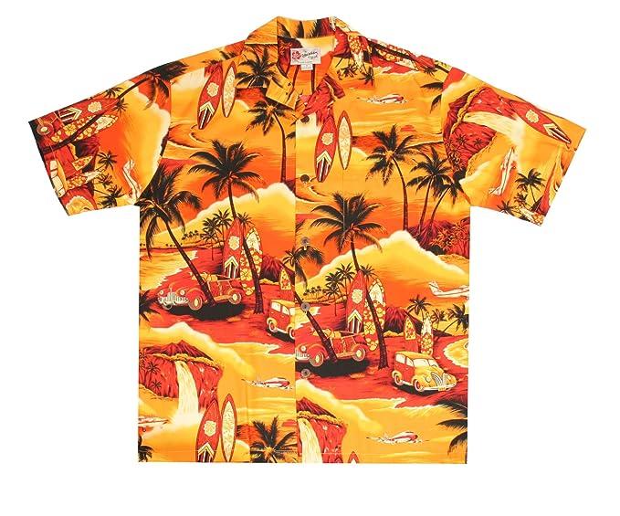 d5471439 Hilo Hattie Waikiki Woody Yellow Aloha Shirt Size Small: Amazon.ca ...