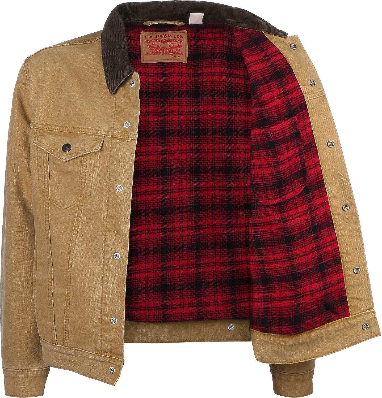 prix fou assez bon marché style de la mode de 2019 Levi's X Justin Timberlake Canvas Trucker Cotton Lined Jacket in Dijon