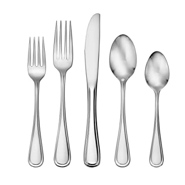 Liberty Tabletop Classic Rim 45 Piece Flatware Set for 8 Made in USA