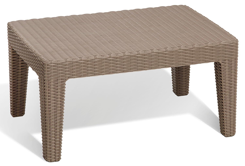 Salons de jardin 2 Fauteuil, 1 canapé, 1 table en plastique effet ...