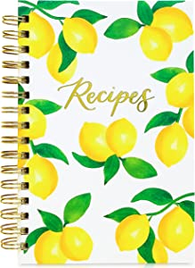 Teal Petal Blank Recipe Book To Write In Your Own Recipes - Recipe Notebook, Hardcover Recipe Journal Keepsake Cookbook for Organizing Favorite Family Recipes With Tabs, 5.75x8.75