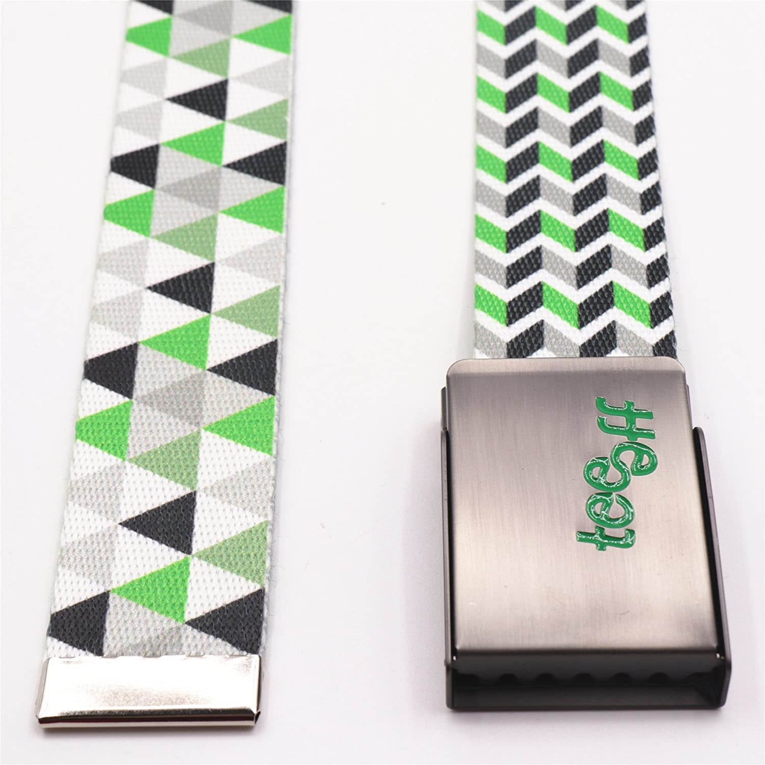 Teeoff Printed Webbing Belt Reversible Metal Buckle
