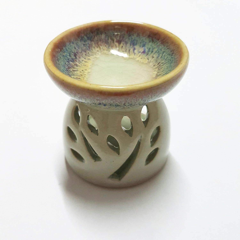 Pisana1979 Ceramica incenso brucia essenze Aroma bruciatore Olio Lampada Lanterna portacandela per Una Candela votiva