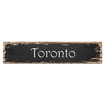 Amazon.com: Toronto Sign Vintage Rustic Street Sign Plate Beach Bar ...