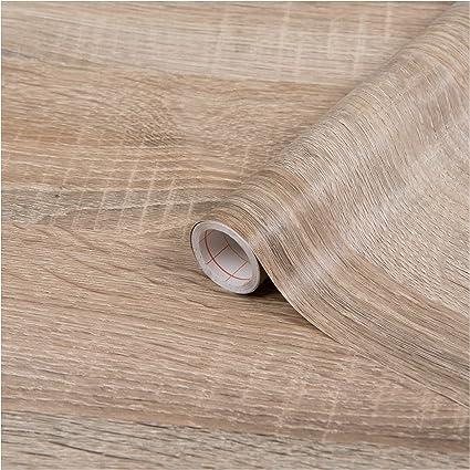 d-c-fix ® - Adhesivo de plástico con parte trasera adhesiva, vinilo, Roble, marrón claro, beige, 26.5 x 78.7