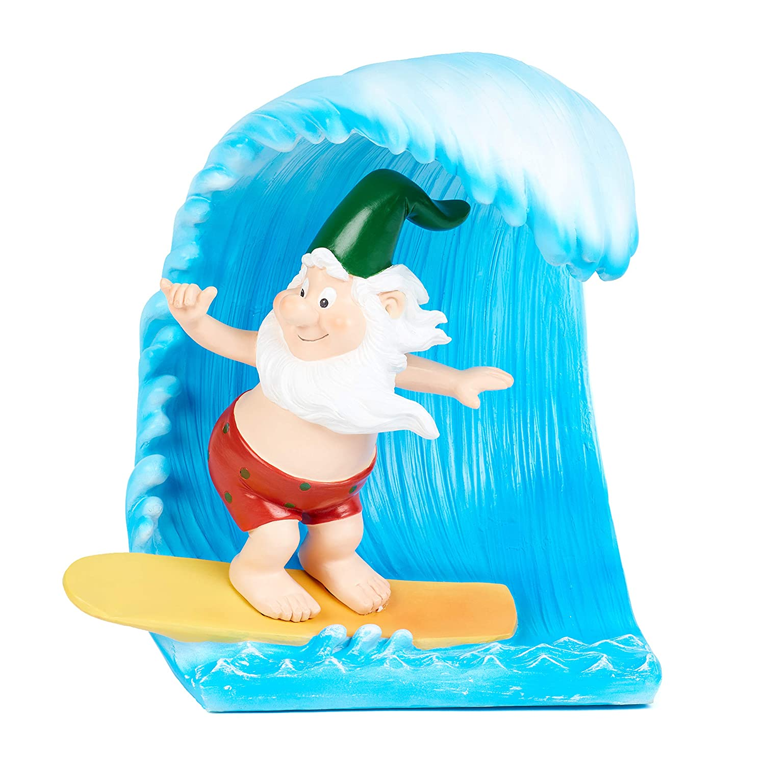"Dawn & Claire Gneptune The Gnarly Gnome A Garden Gnome Who Loves to Hang Ten! (Mini - 6.3"")"