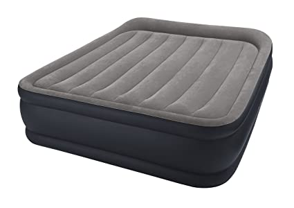 Intex Matelas Gonflable Electrique Queen Deluxe Pillow 2 Pers 152x203x42 Cm