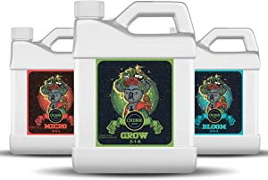 Cronk Grow Hydroponic Nutrients – Nutrients Plant Fertilizer – Macro and Micro Nutrients Blend – Compatible with Soil, Soilless and Hydroponic Garden – Maximized Yield (4L, 3-Part Kit)