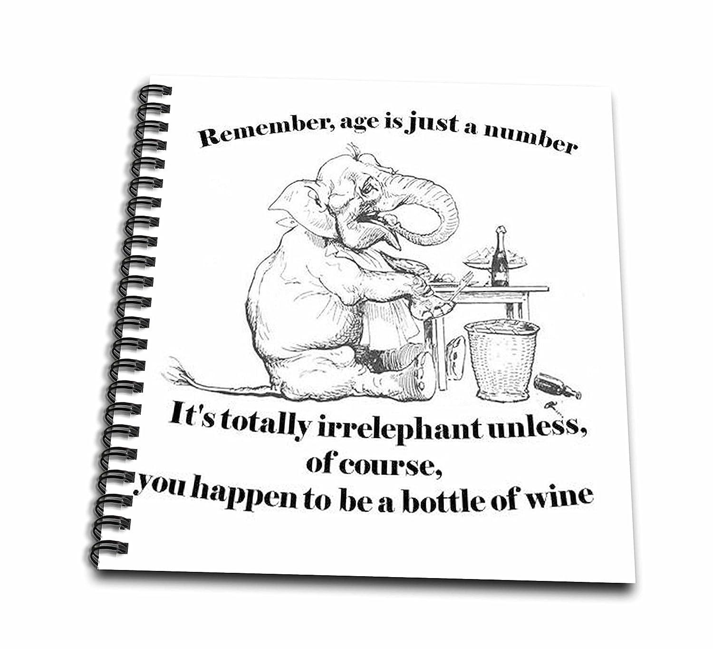 Amazon 3dRose Db 78686 2 Birthday Irrelephant Elephant Cute Wine Age Greeting Card Funny Memory Book