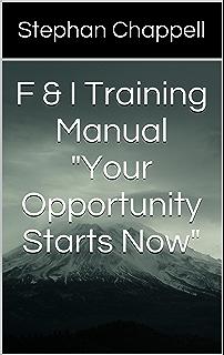 F & I Training Manual