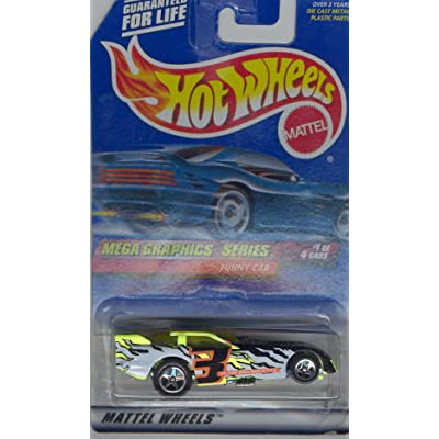 Hot Wheels 1999 973 FUNNY CAR 1 of 4 Mega Graphics Series 1:64 Scale Die-cast Collectible Car: Toys & Games