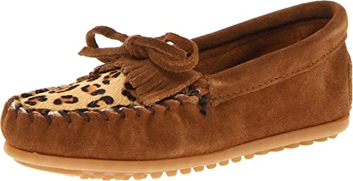 Minnetonka Leopard Kilty Moc - Mocasines Niñas: Amazon.es: Zapatos y complementos