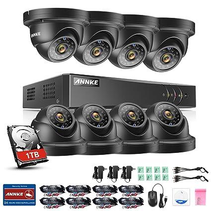 [1280*960P HD] ANNKE® Kit de 8 Cámaras de Vigilancia Seguridad (
