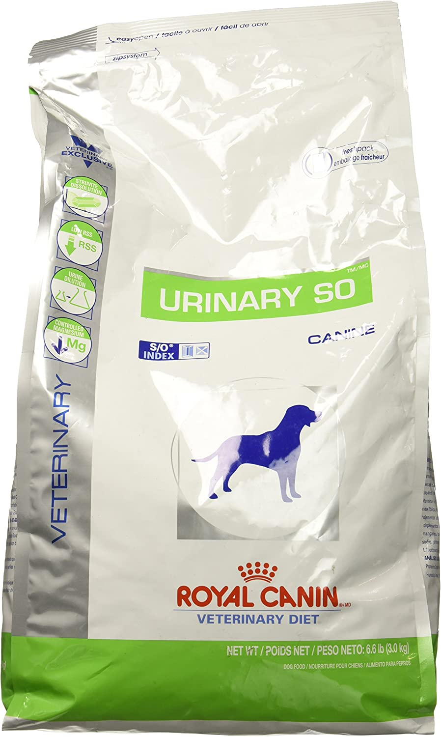 Royal Canin Veterinary Diet Canine Urinary SO Dry Dog Food 6.6 lb bag