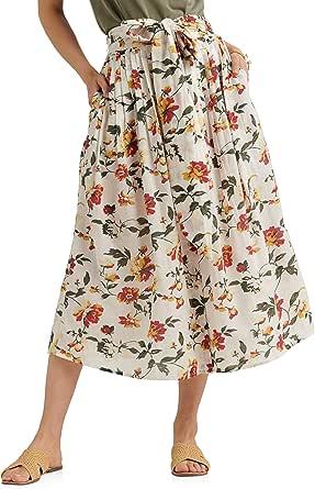 Lucky Brand Women's Long Floral Printed Sadie Skirt