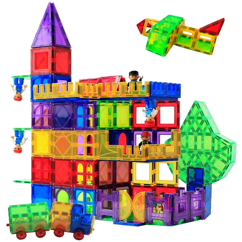 Magblock 115 PCS Magnetic Blocks, Magnetic Tiles Building Blocks for Kids Toy,Magnet Toys Set 3D Building Blocks for Toddler Boys and Girls by Magblock (Image #7)