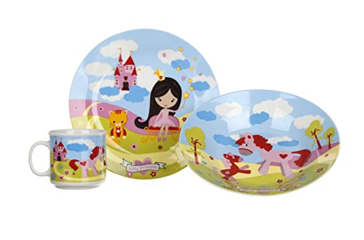 Banquet Little Princess - Juego de Mesa Infantil (cerámica, 20,5 x ...