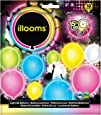Illooms 34180 - Ballons mit LED Licht Mix, 10er Pack, bunt