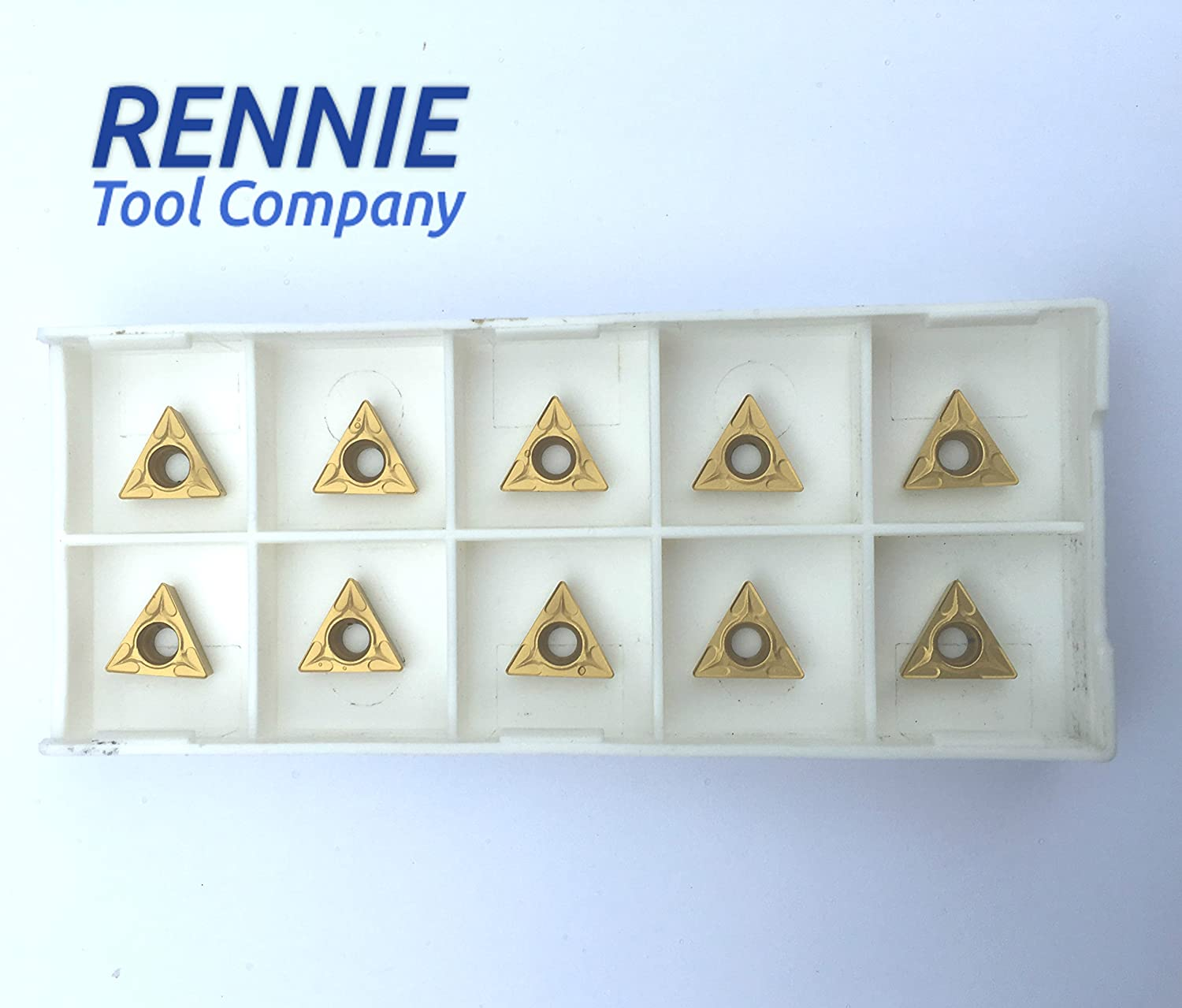 10 x TCMT 110204 P25C PVD Coated Inserts. For General Purpose Machining Of Steel/Stainless Rennietool.co.uk