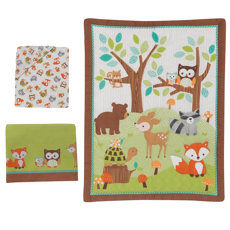 Amazon Bedtime Originals Friendly Forest Woodland 3 Piece Bedding Set Green Brown Baby