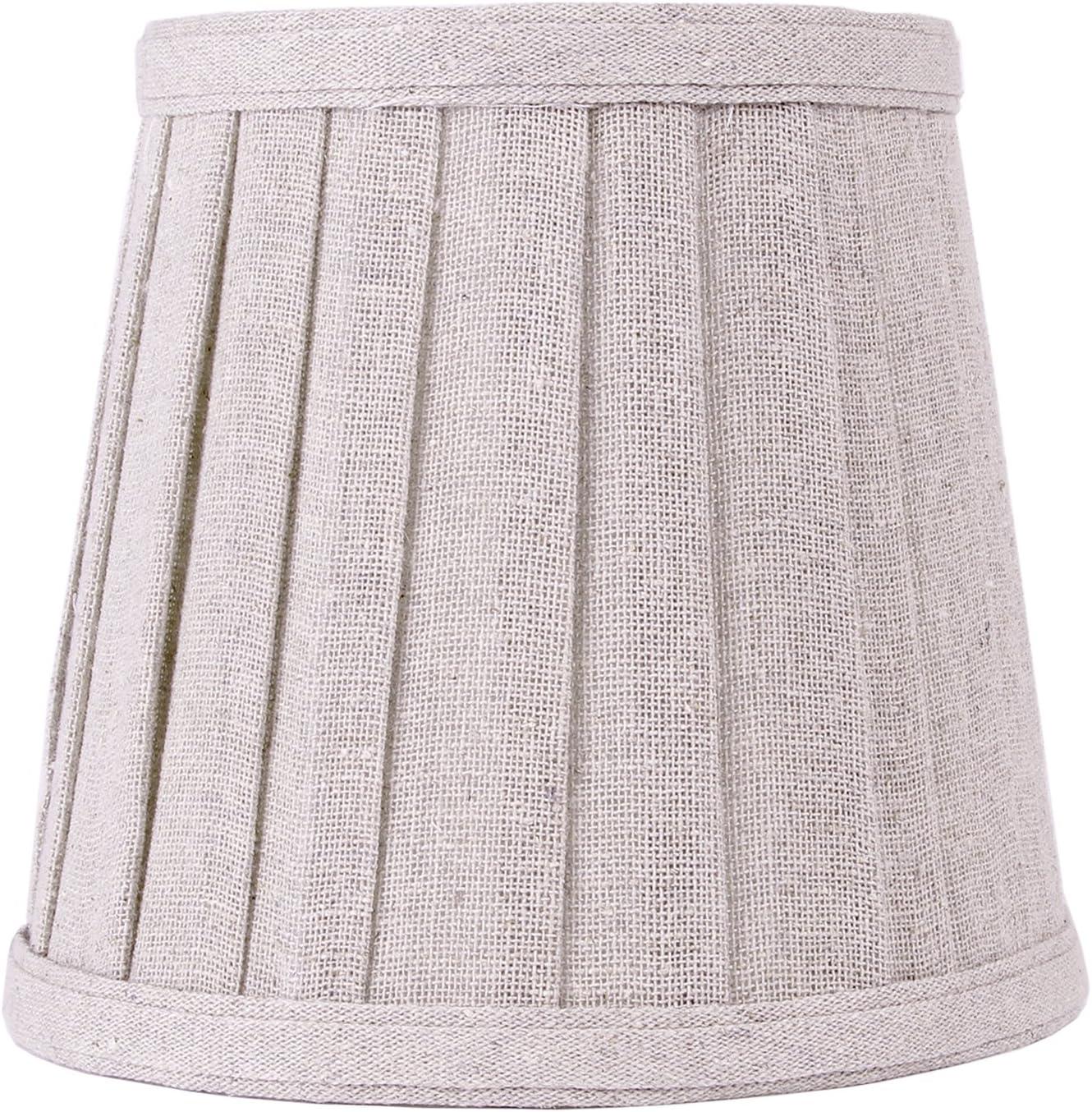 Tulipa fabricada a mano en tejido de lino para lámpara de mesa o ...